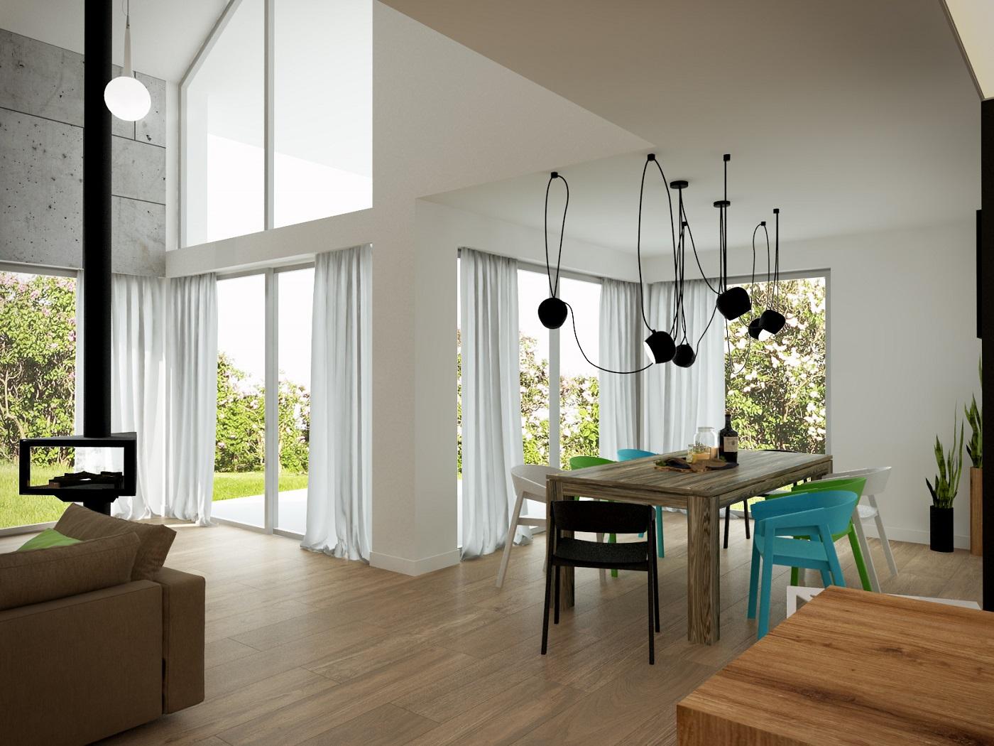 Kompleksowy projekt domu jednorodzinnego z antresolą 3
